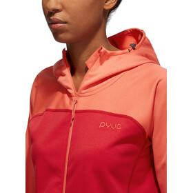 PYUA Crest S Felpa con cappuccio e zip Donna, rosa/rosso